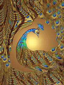 Mystischer Pfau, peacock, pavo cristatus, paon  von Dagmar Laimgruber