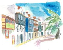 Balkon in der Straße Santa Cruz de La Palma von M.  Bleichner