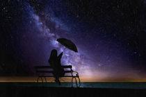 Girl and Milky Way by Robert Deering