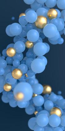 Blaue und goldene Kugeln by dresdner