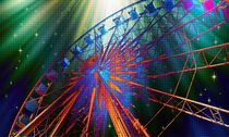 Ferris Wheel at the waterfront in Cape Town by Werner Lehmann