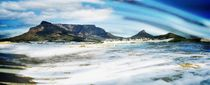 Atlantic Ocean and Table Mountain abstract by Werner Lehmann