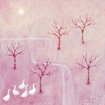 Geese in the Orchard von Nic Squirrell
