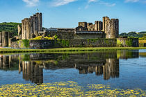 The Towers Of Caerphilly Castle by Ian Lewis