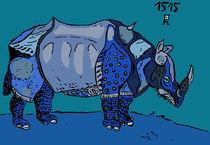 Nashorn nach Dürer von Robert Scholz