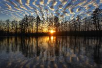 reflection and sunset by Andrea Meister