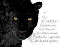 Krafttier Leopard - schwarzer Panther von Astrid Ryzek