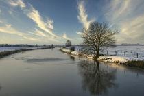 Kanal im Winter von Rolf Müller