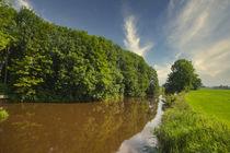 Kanal  in Ostfriesland von Rolf Müller