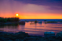 Setting sun at Baltic sea landscape by Marie Selissky