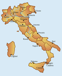 Map of Italy von William Rossin