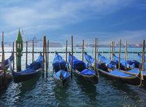 Blue gondolas under blue sky von Marie Selissky