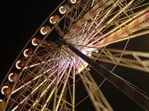 Riesenrad bei Nacht von Rolf Müller