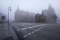 Speicherstadt im Nebel von Simone Jahnke