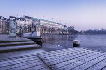 Binnenalster im Winter von Simone Jahnke