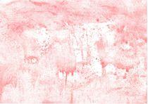 Von Hand mit wasserlöslicher Wachsmalkreide gemaltes Aquarell in Rot  von Heike Rau