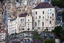 Mittelalterliche Fassade der Burg in Rocamadour von captainsilva