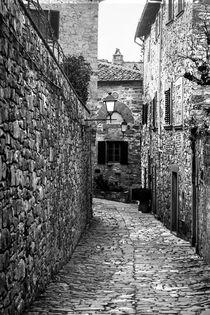 Medieval narrow cobblestone street by Marie Selissky