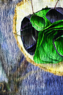 Abstract image in violet and green von Marie Selissky