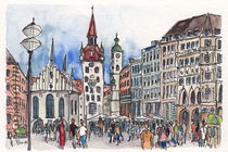 München - Marienplatz von Hartmut Buse