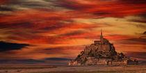 Brennender Himmel und Mont-Saint-Michel by buellom