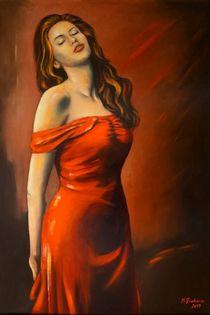 Lady im roten Kleid von Marita Zacharias