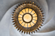 Ceiling light inside Casa Battlo, architecture Antoni Gaudi, Barcelona by Bastian Linder