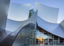 Walt Disney Concert Hall in Los Angeles during sunset von Bastian Linder