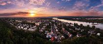 Schöner Sonnenuntergang über Mainz-Weisenau von menard-design