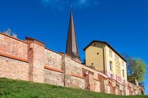 Blick auf die Petrikirche in Rostock von Rico Ködder