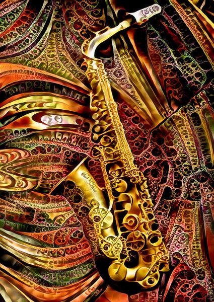 Ornamental-saxophon-klein