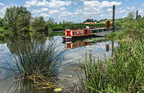 Moored on the Avon At Tewkesbury by Ian Lewis