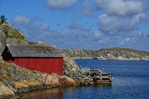 einsames Boootshaus - Schweden von Peter Bergmann