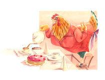 Henne mit Teekanne von Anna Eliza Lukasik-Fisch