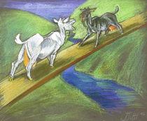 Zwei Ziegen 1 von Anna Eliza Lukasik-Fisch