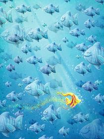 gelber Fisch im Meer by Stefan Lohr