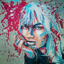 Ileya S. Blueberry #popart #portrait by #carographic - Carolyn Mielke by carographic