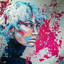 Riva S. Blueberry #popart #portrait by #carographic - Carolyn Mielke by carographic