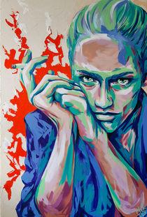 #smoking #woman Eline Challenge #popart #art by #carographic - Carolyn Mielke by carographic