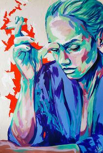 #smoking #woman Pamina Challenge #popart #art by #carographic - Carolyn Mielke by carographic
