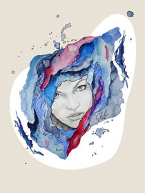 purple portraits Tess by #carographic, Carolyn Mielke by carographic