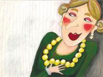 Dame mit Perlenkette von Evi Gasser