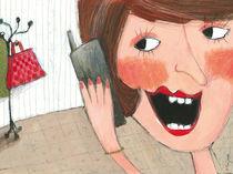 Mama telefoniert by Evi Gasser