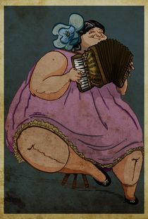 The Happy Accordionist von Jose  Fragoso