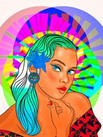 BLUE EYES AND BLUE HAIR  by rodrigotresd