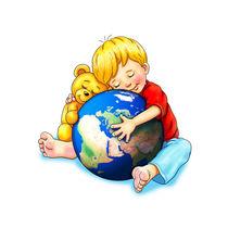 Unsere Erde, wir haben dich ganz dolle lieb von Peter Holle