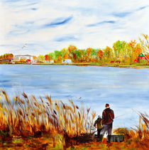 Angler am Vechtesee by Heinz Munk