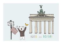 Hallo aus Berlin - Brandenburgur Tor by June Keser