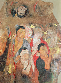Group of monks and Buddha von Xingjiang