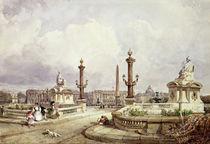 The Place de la Concorde by William Wyld